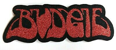 BUDGIE - Die Cut Glittered Woven Patch Sew/Iron On Rare NWOBHM Heavy Metal  • 3.99£