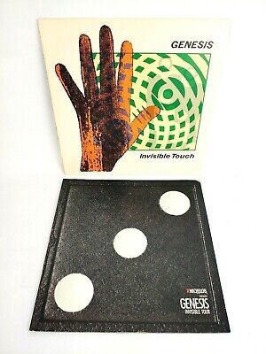 GENESIS Invisible Touch 1986-1987 Tour Book Concert Program And Record • 15.73£