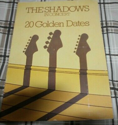 Hank Marvin The Shadows Signed Tour Brochure 20 Golden Dates • 45£