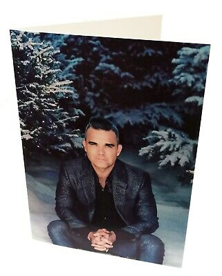 ROBBIE WILLIAMS Boldly SIGNED Christmas Card New Stunning ! Take That • 29.95£