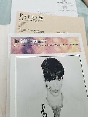 *Prince NPG Gold Experience Press Release Collectors Symbol* • 149.99£