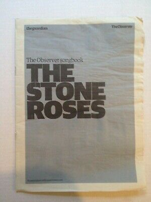 The Stone Roses Songbook The Observer Pull Out 2008 Sheet Music 24 Pages • 3£