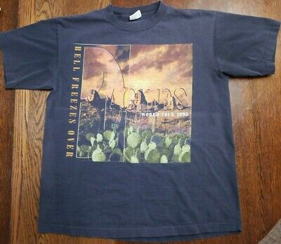 Vintage Eagles Hell Freezes Over World Tour 1995 XL Concert Tshirt • 24.46£