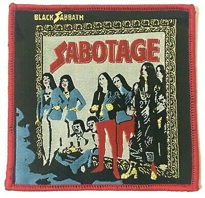 BLACK SABBATH - Sabotage - Square Woven Patch Red Edging Rare Ozzy Aufnäher  • 4.99£