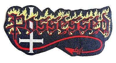 POSSESSED - Logo - Woven Patch Sew/Iron On Rare Death Metal Aufnäher écusson 666 • 4.25£