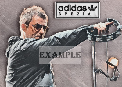 Liam Gallagher Adidas Spezial Print / Canvas - Sketch Art / Abstract • 15£