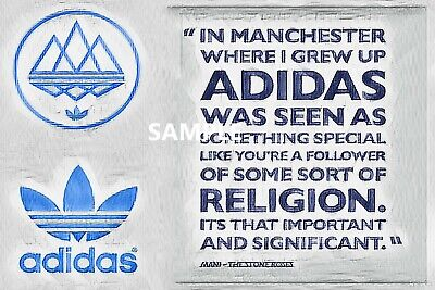 Mani Stone Roses - Adidas Is Religion -  Abstract Art - Print / Canvas • 15£