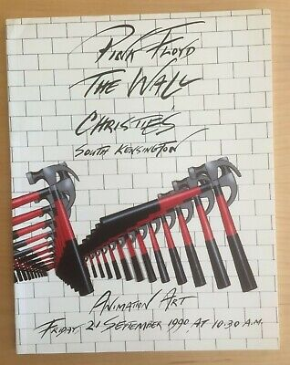 PINK FLOYD THE WALL Christie's Auction ANIMATION ART Sale Catalogue 1990 London • 39.95£
