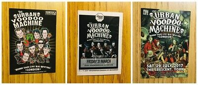 Urban Voodoo Machine X 3  A6 Flyers - 2008 And 2017 • 2.20£
