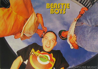 BEASTIE BOYS Postcard UK Official 90'S 'WIDE ANGLED' Pic PYRAMID Licensed LAST 1 • 2.95£