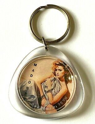MADONNA - Old Vtg 80/90`s Acrylic Keyring Keychain Queen Of Pop • 2.99£