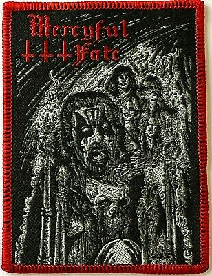 MERCYFUL FATE - Woven Patch Sew On Rare King Diamond Heavy Metal Aufnäher   • 4.99£