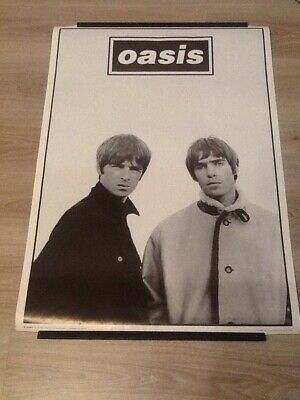 Rare 1996 Noel & Liam Gallagher Black & White Oasis Poster ~ 35 X25  ~ Official! • 44.99£