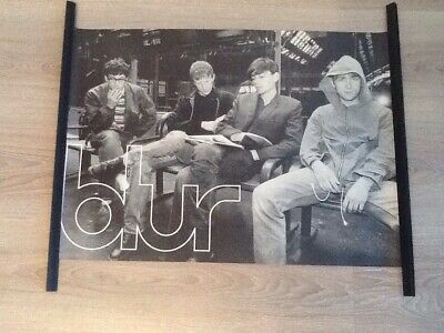 Rare 1996 Poster Of Damon Albarn's Blur Chilling At A Train Station ~ 22  X 16  • 44.99£
