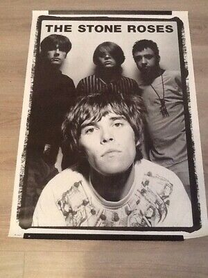 Rare & Iconic 1996 Stone Roses Band Poster ~ Ian Brown's Money Shirt ~ 36  X 25  • 49.99£