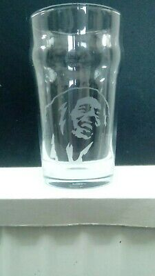 Bob Marley Etched Engraved Beer  Pint  Glass  • 10.99£