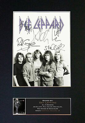 DEF LEPPARD - RARE Full Group Signed And Mounted Photograph ⭐⭐⭐⭐⭐ • 24.95£