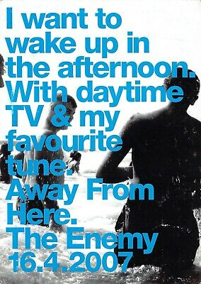 The Enemy Awy From Here Postcard Advertising Memorabillia Flyer Postcard (2) • 7.99£