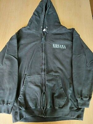 Official Nirvana 'in Utero' Zip Hoodie Size Xl Kurt Cobain Dave Grohl • 21.95£