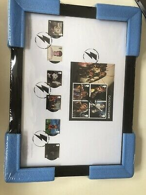 David Bowie Royal Mail Postage Stamps Framed • 42£
