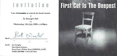 The Beatles/merseybeat - Bob Wooler Signed Invitation To Book Launch 2000 • 14.99£