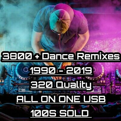 USB - 3800 Dance Songs 1990's - 2020 Eurodance Trance Remixes - 320 MP3 DJ Music • 18.49£