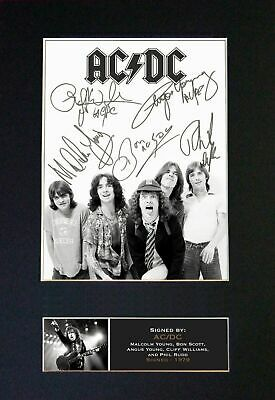 AC/DC - RARE Full Group Signed And Mounted Photograph ⭐⭐⭐⭐⭐ • 19.95£