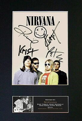 Nirvana - RARE Full Group Signed And Mounted Photograph ⭐⭐⭐⭐⭐ • 19.95£