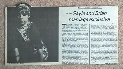 Lori And The Chameleons, Vintage UK Press Review Cuttings Clippings (Touch, Zoo) • 3.99£