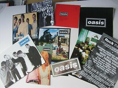 OASIS Promo Flyers Fan Club Merchandise Reprint Signed Christmas Card Sticker • 9.99£