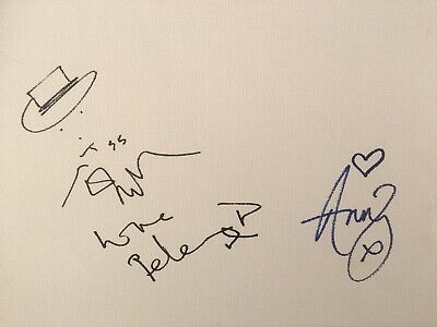 Pete Doherty Amy Winehouse Hand Signed Canvas With Drawing The Libertines • 500£