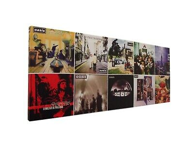 OASIS ALBUM COVER / COVERS CANVAS PICTURE On A Wooden Frame 610x260mm 61x26cms • 10.79£