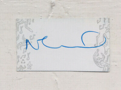 Noel Gallagher Signed Amoeba Music Record Store Business Card Oasis • 25£