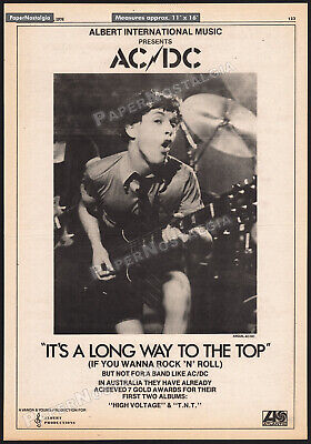 AC/DC - It's A Long Way To The Top__Original 1976 Trade AD / Poster__Angus Young • 112.57£