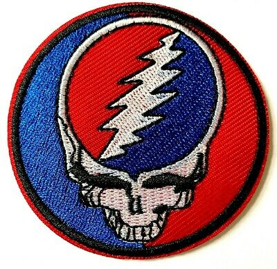 GRATEFUL DEAD - Embroidered Patch Sew Iron On • 2.80£