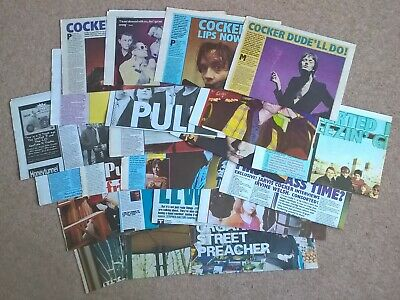 Pulp, Jarvis Cocker - Vintage UK Press Clippings Cuttings Interviews X21 (NME) • 22.99£