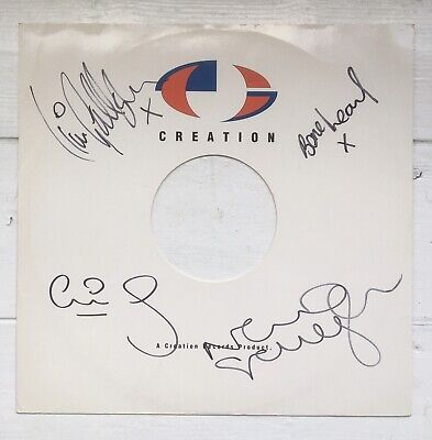 """Oasis Signed Creation Records Promo 12"""" Vinyl White Sleeve Noel Liam Gallagher • 160£"""