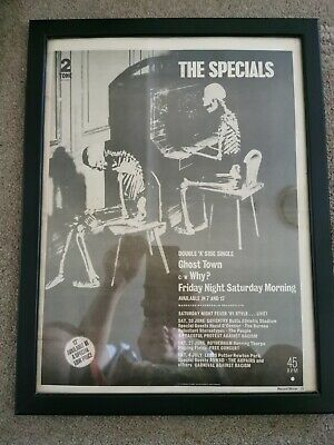 Record Mirror The Specials Page Cutting Framed • 25£