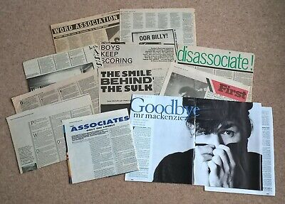 The Associates (Billy Mackenzie) Vintage UK Press Cuttings Clippings Interviews • 14.99£