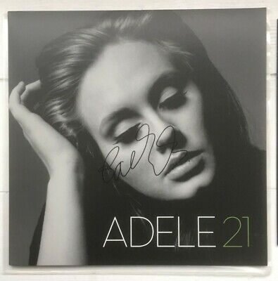 Adele Hand Signed Vinyl Album 21 XL Recordings Someone Like You • 300£