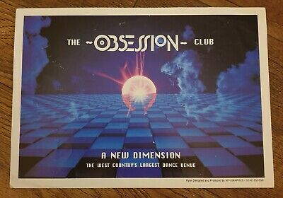 OBSESSION August 1992 Rave Flyer The Park Wormelow Hereford  • 2.20£