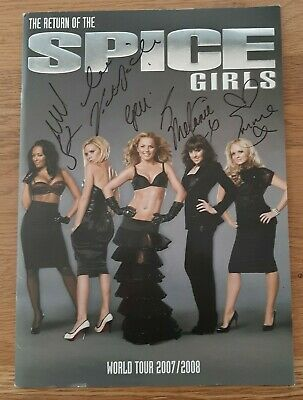 Spice Girls Signed Autographed World Tour 2007/2008 Programme • 150£