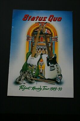 Status Quo Tour Programme - Perfect Remedy Tour 1989 - 1990 - 20 Pages • 6£