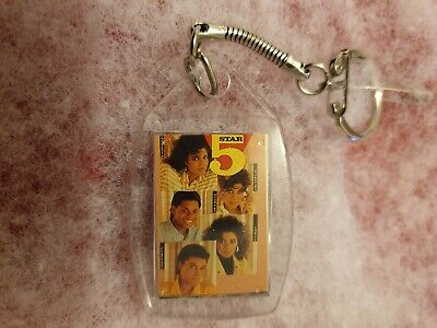 5 FIVE STAR 2 Sided *RARE COLLECTION *OFFICIAL FAN CLUB* KEYRING • 7.99£
