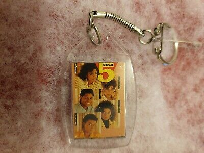 BRAND NEW 5 FIVE STAR 2 Sided *RARE COLLECTION *OFFICIAL FAN CLUB* KEYRING • 8.99£