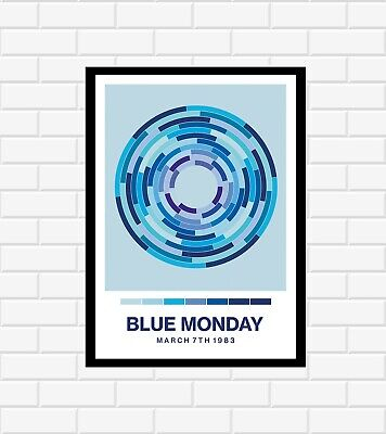 New Order Blue Monday Poster • 19.99£