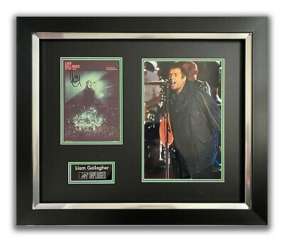 Liam Gallagher Hand Signed Framed Display - Mtv Unplugged - Oasis. • 174.99£