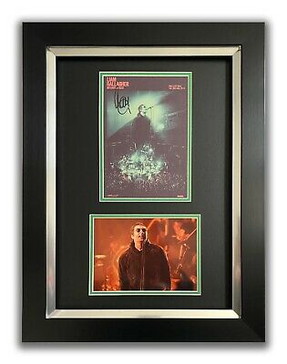 Liam Gallagher Hand Signed Framed Display - Mtv Unplugged - Oasis 3. • 174.99£