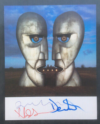 Pink Floyd Division Bell Signed Promotional A4 Card Print Gilmour, Wright, Mason • 360£