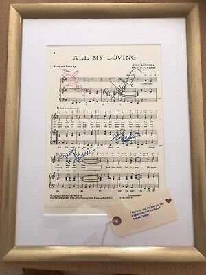 The Beatles Sheet Music 'All My Loving' 1963 With All Four Signatures • 112£